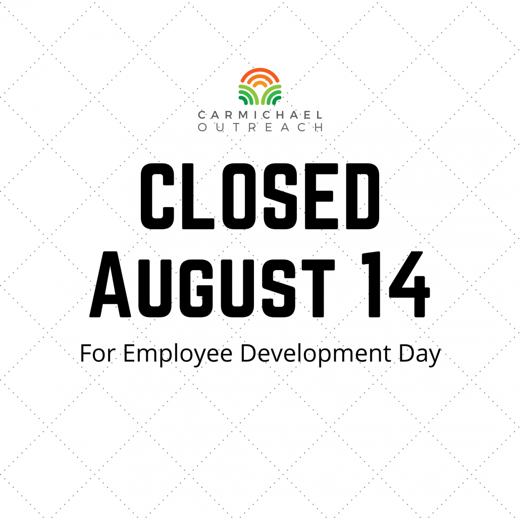 2020-08-14 closed For Employee Development Day